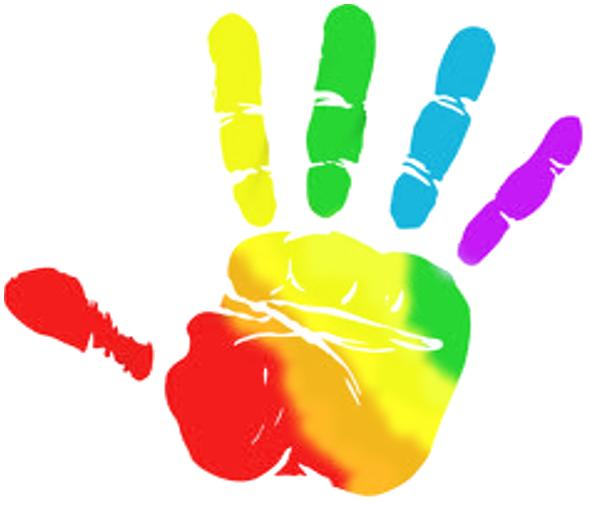 Angled handprint clipart clipart images gallery for free.