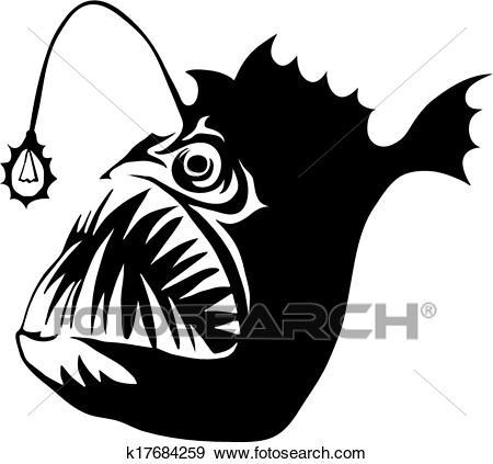 Angler Fish Clip Art.