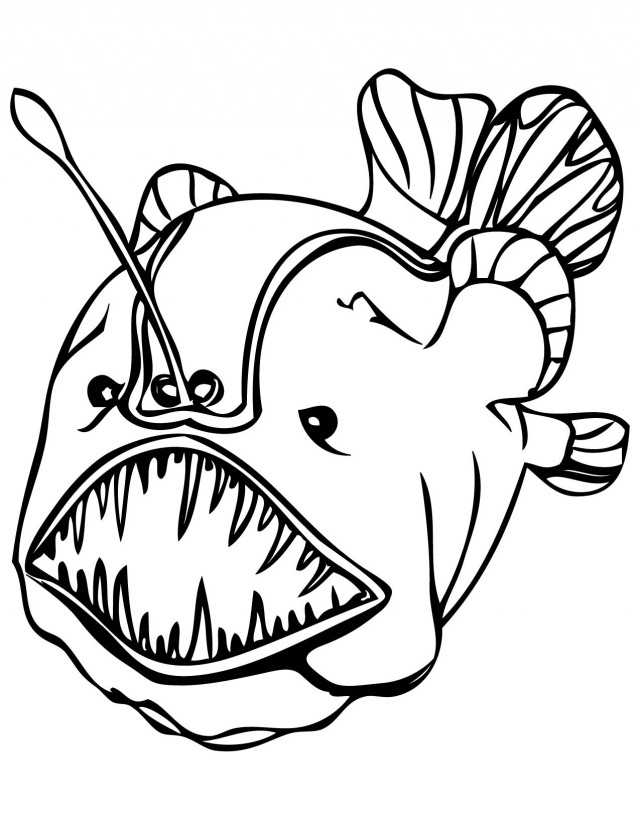 Angler Fish Coloring Pages Download Free Printable Coloring.