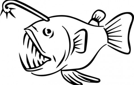 Angler fish coloring pages.