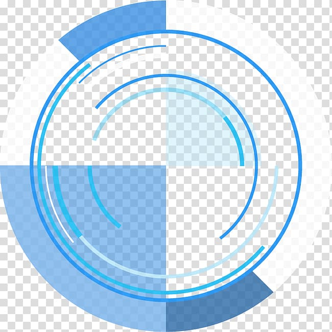 Blue and white lens , Circle Angle Number, Abstract & ring.