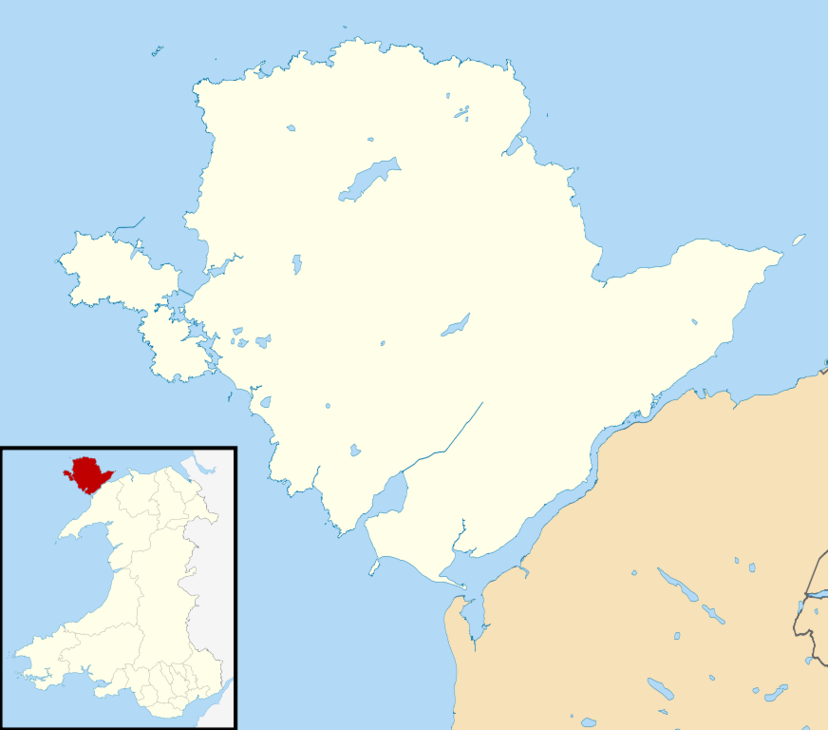 Isle Of Anglesey UK Mapsvg Clipart.