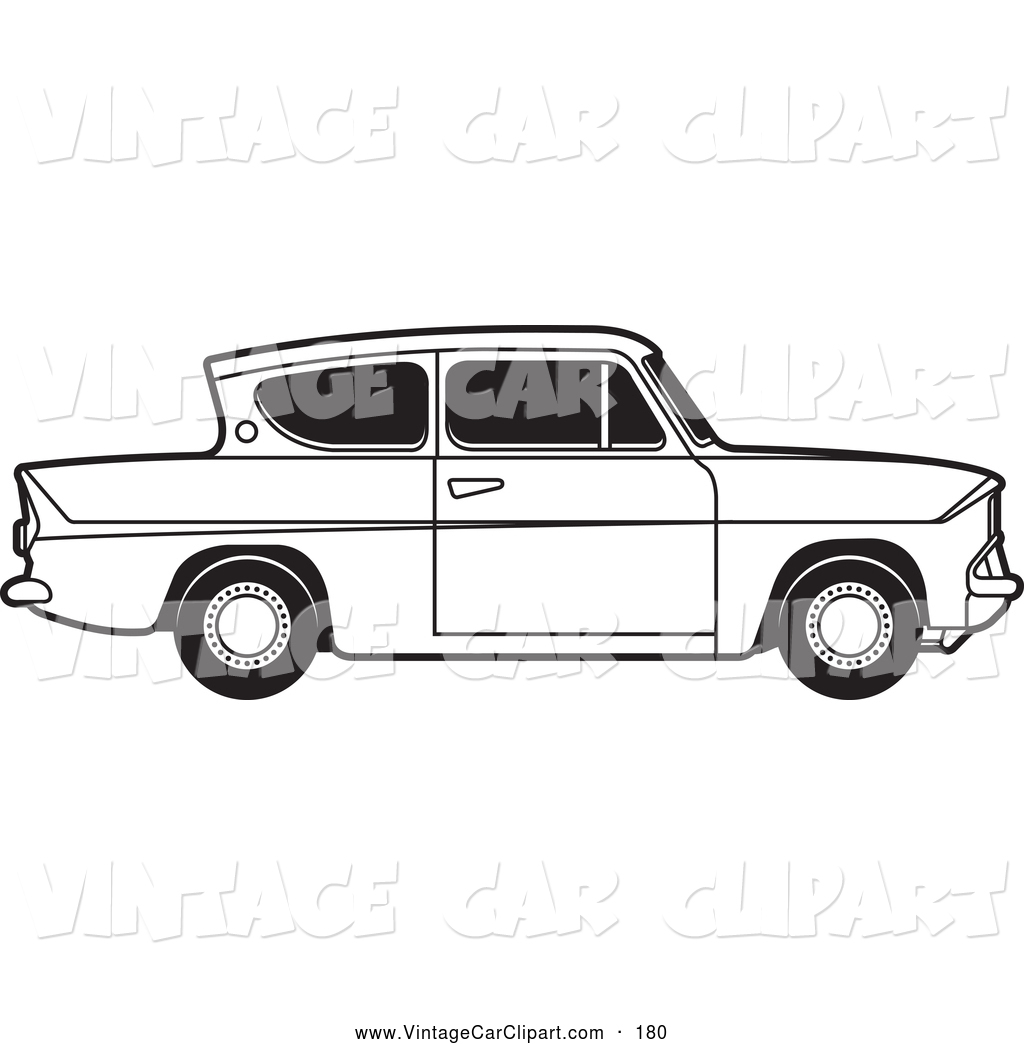 Royalty Free Stock Vintage Car Designs of Fords.
