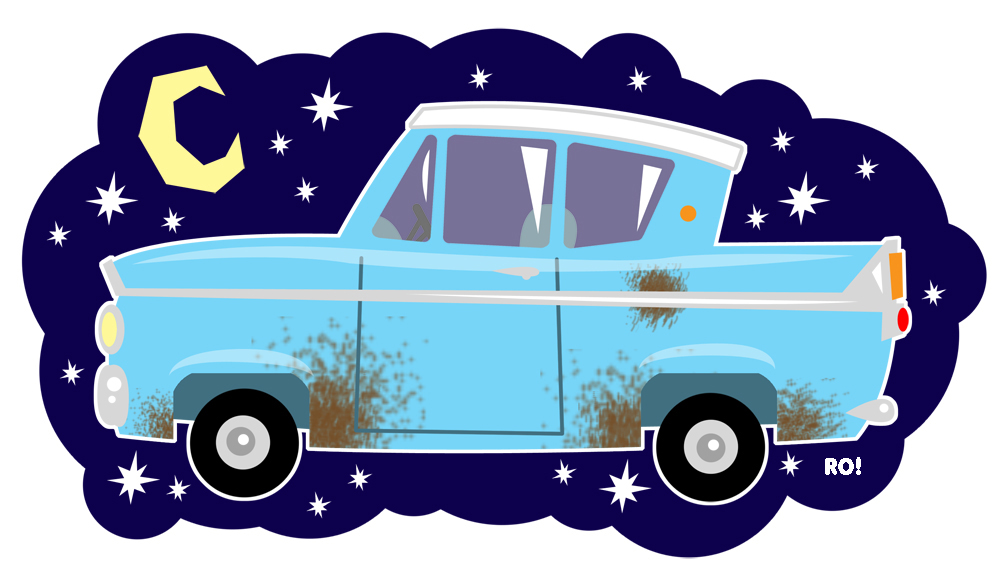 Flying car harry potter clipart.