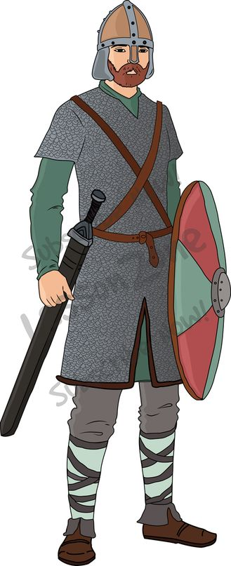 Anglo saxons clipart.