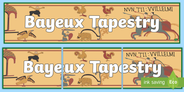 Anglo Saxons Bayeux Tapestry Display Banner.