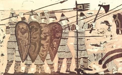Image result for shields from the bayeux tapestry.
