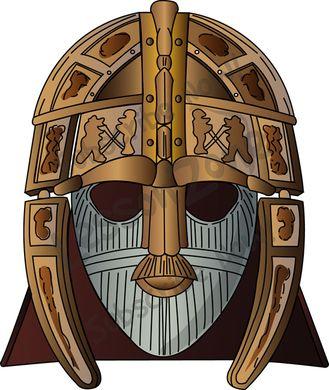 Anglo Saxon Shield Clipart.