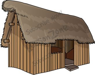 Anglo Saxon House Clipart.