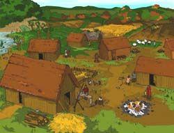 West Mucking Anglo Saxon Village Interactive activity.