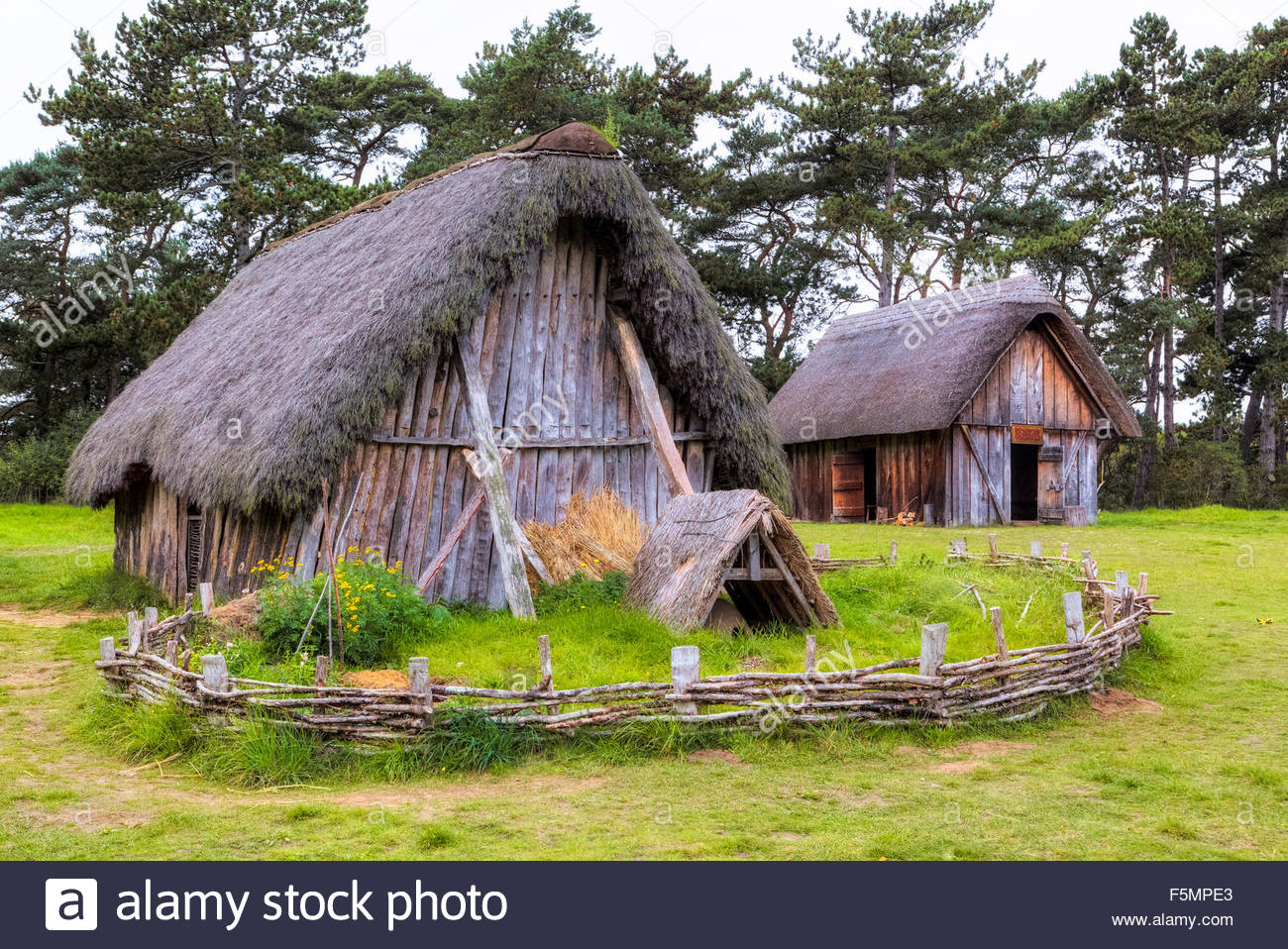 West Stow Anglo Saxon Village, England 2019.