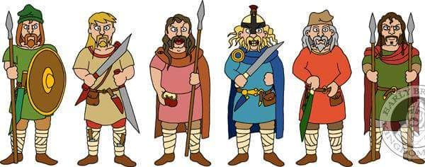 Early Anglo Saxon Warriors.