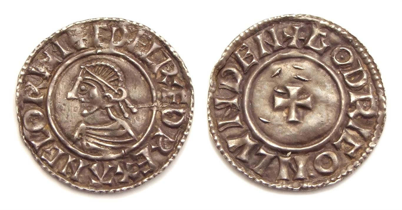 Rare Viking coin fetches £12,000 at auction.