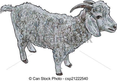 Angora goat Vector Clipart EPS Images. 8 Angora goat clip art.