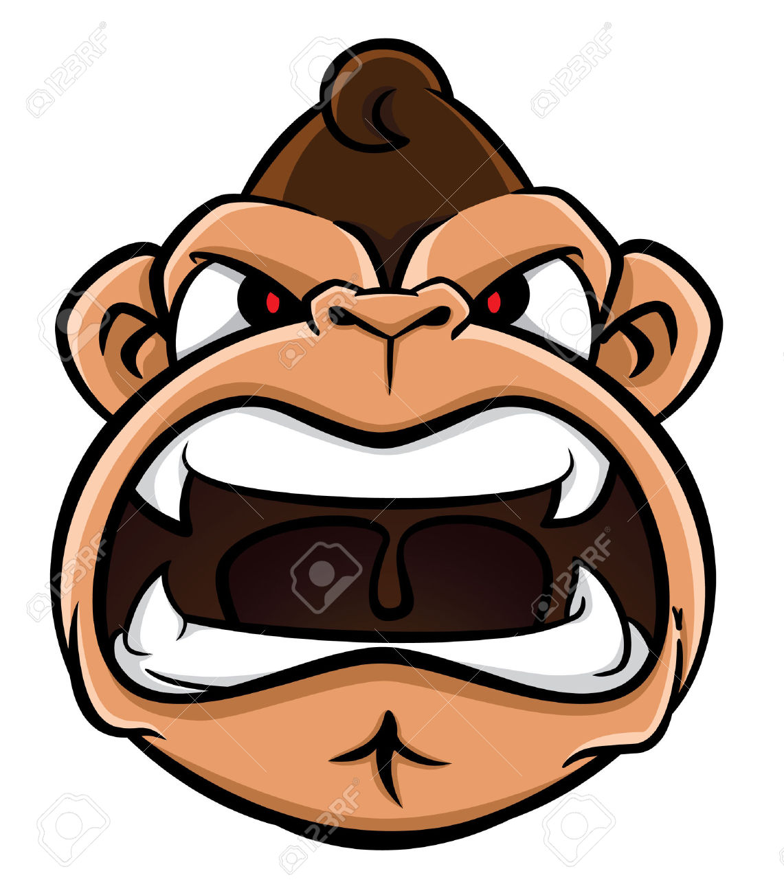 11102 Angry free clipart.