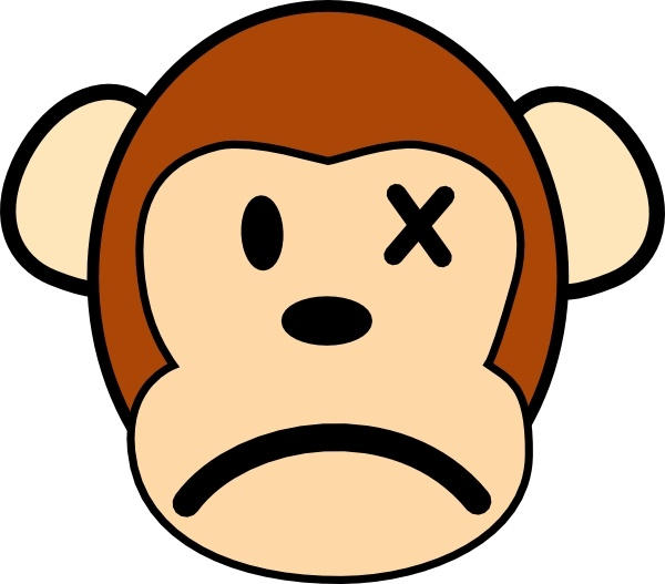 Angry Monkey clip art Free vector in Open office drawing svg.