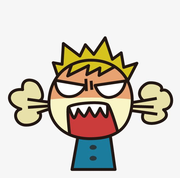 Cartoon Angry Boy PNG, Clipart, Angry, Angry Boy, Angry.