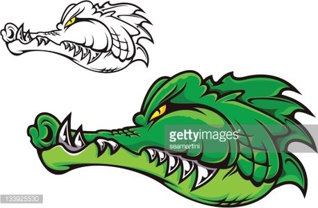 Angry alligator Clipart Image.