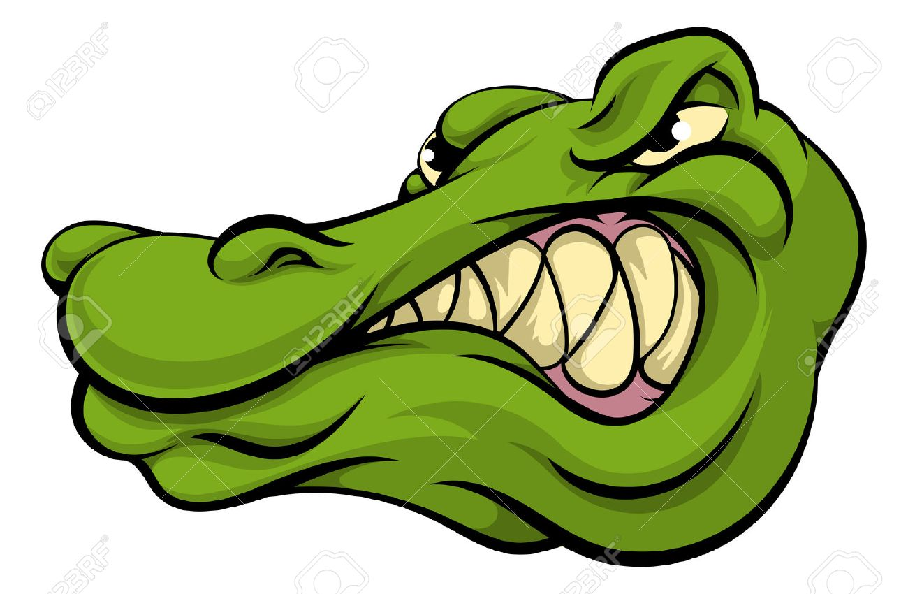 Angry Alligator Clipart.