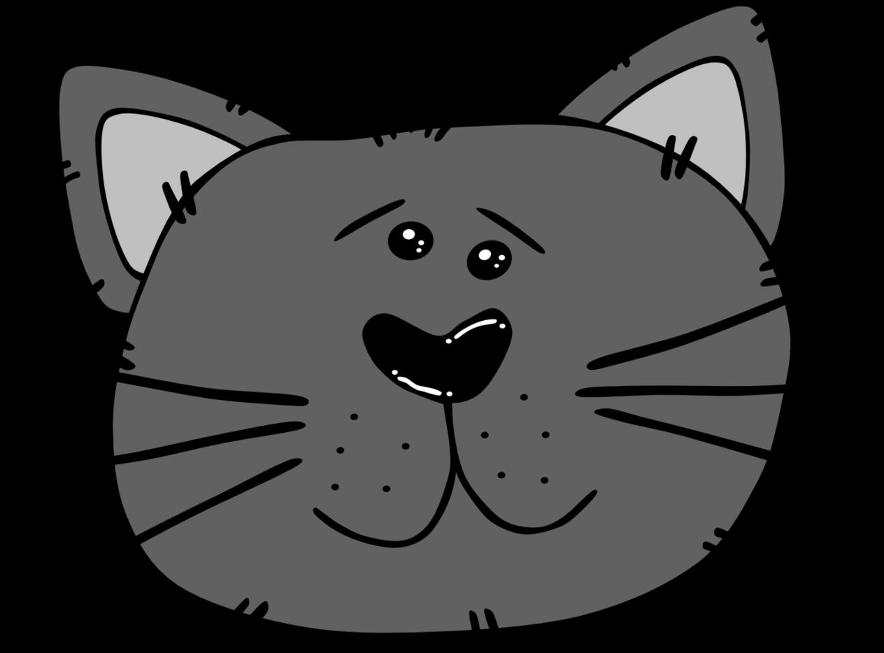 Cartoon Cat Faces Clipart.