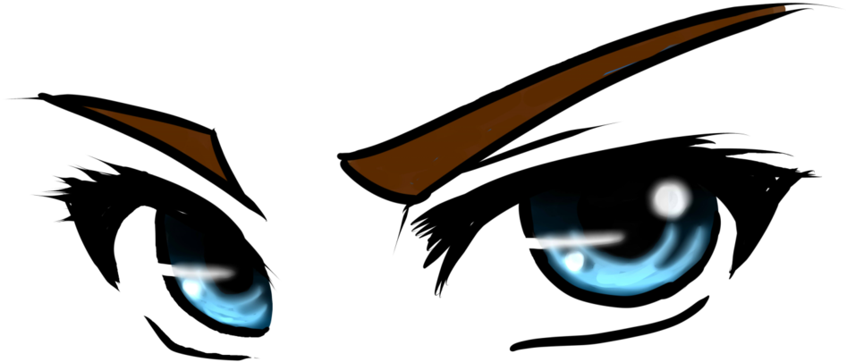 Angry Anime Eyes Clipart.