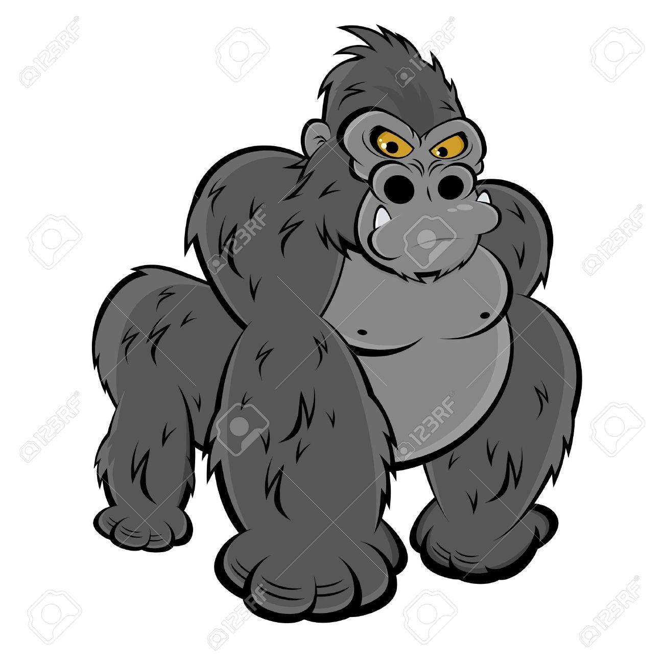 1154 Gorilla free clipart.