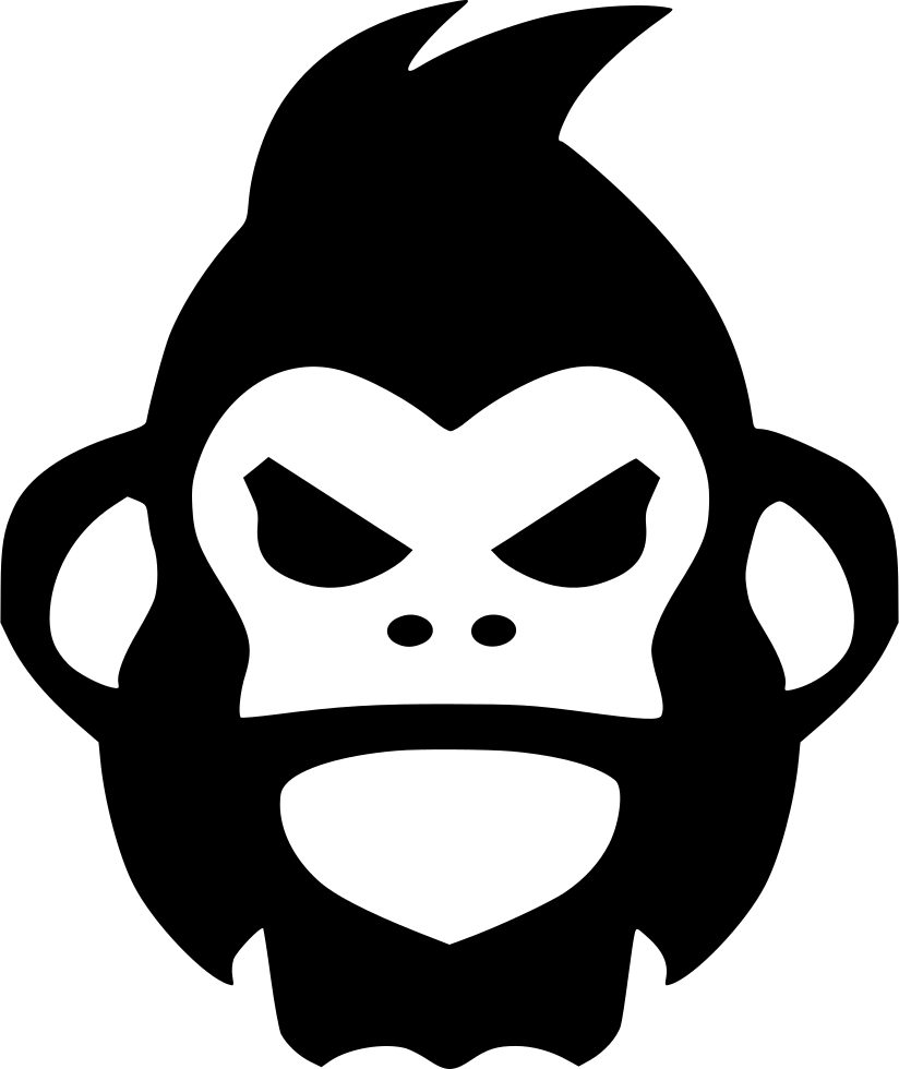 Banner Black And White Angry Gorilla Rage Svg.
