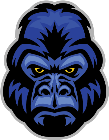Vector Library Stock Ape Clipart Angry Gorilla Blue.