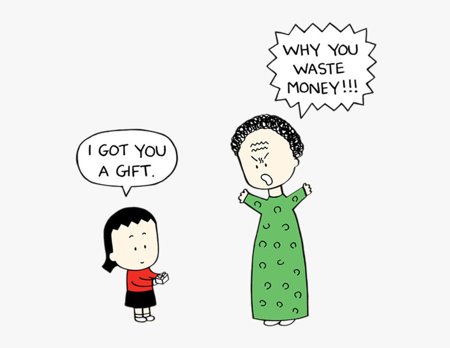 Angry Little Asian Girl Mother , Free Transparent Clipart.
