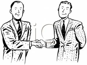 Two Men Shaking Hands on a Business Deal.