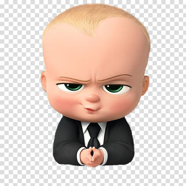 Baby Boss, Boss Baby Angry Look transparent background PNG.