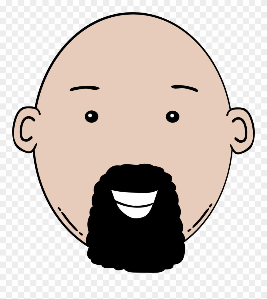 Man Face Cartoon Clip Art.