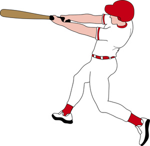 1074 Baseball Player free clipart.
