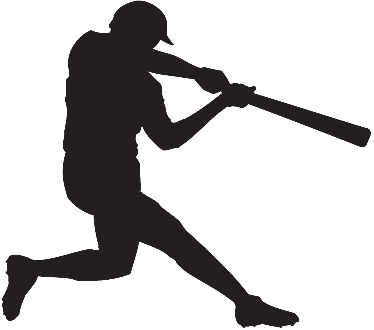 Baseball player Batting Clip art.