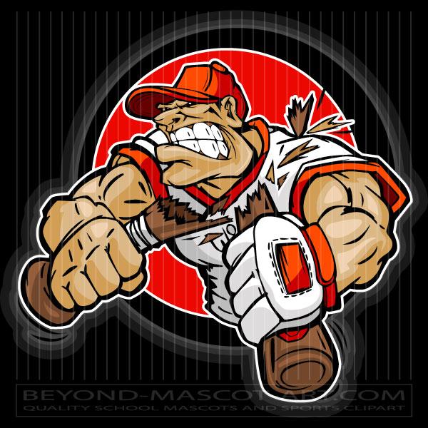 Mad Baseball Player Cartoon Vector Baseball Image.