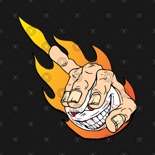 Flaming Angry Baseball.
