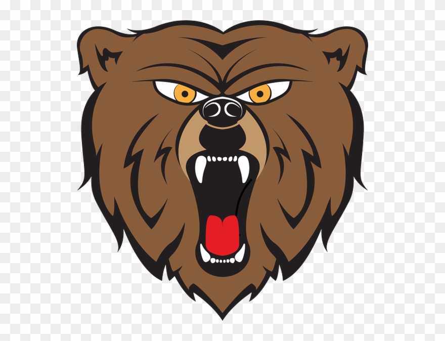 Cartoon Angry Bear Clipart (#1231736).