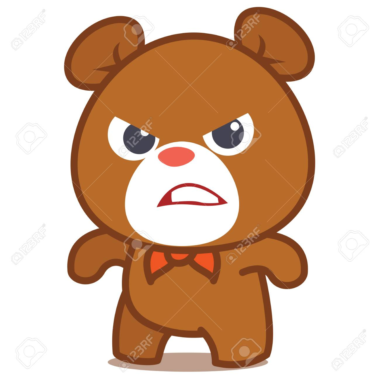 Angry bear character vector art collection stock.