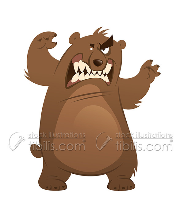 Angry bear clipart 7 » Clipart Station.