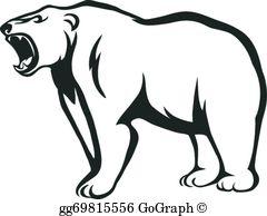 Angry Bear Clip Art.