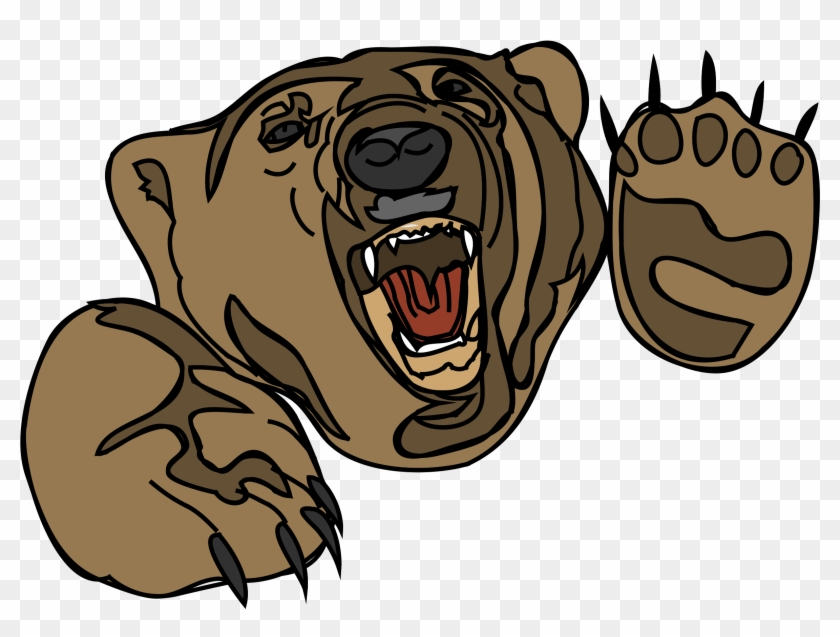 Grizzly Bear Clipart Face.