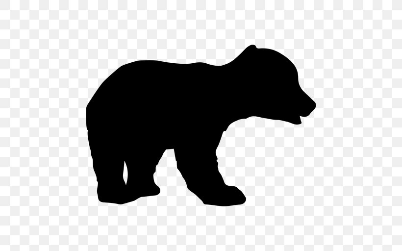 Bear Clip Art Silhouette Transparency, PNG, 512x512px, Bear.