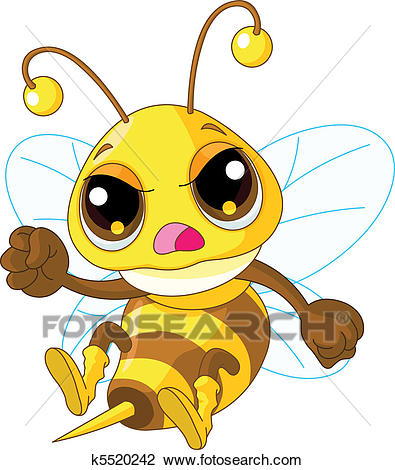 Cute angry Bee Clipart.