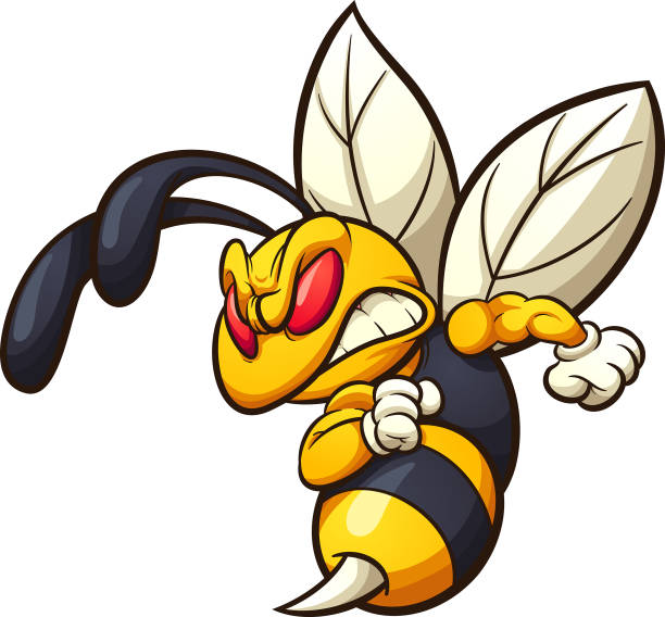 Best Angry Bee Illustrations, Royalty.