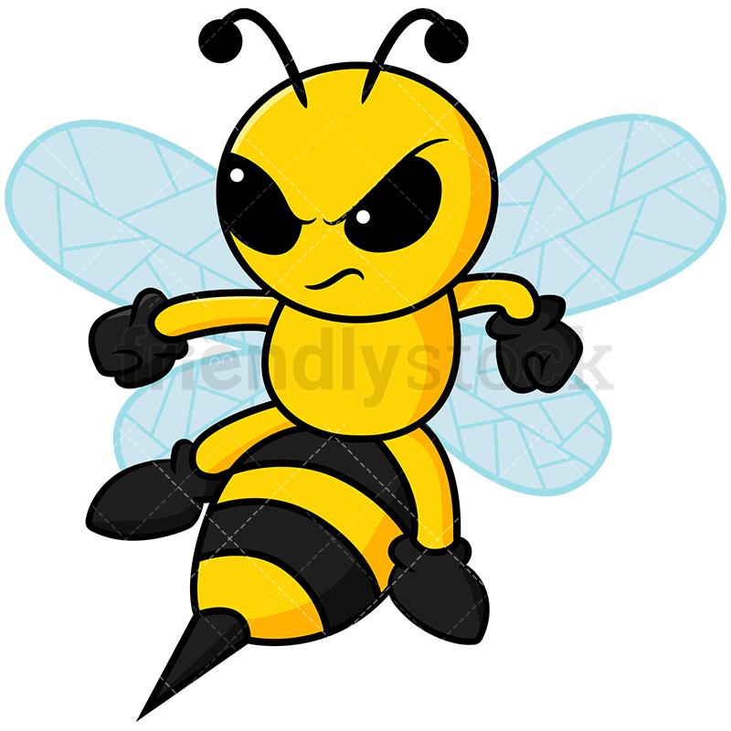 Angry Bee About To Sting.