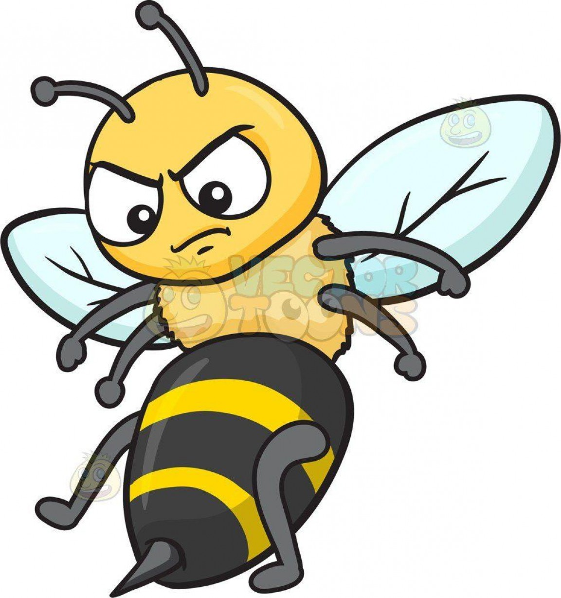 Best Surging Pictures Of Cartoon Bees An Angry Bee Clipart By Vector.