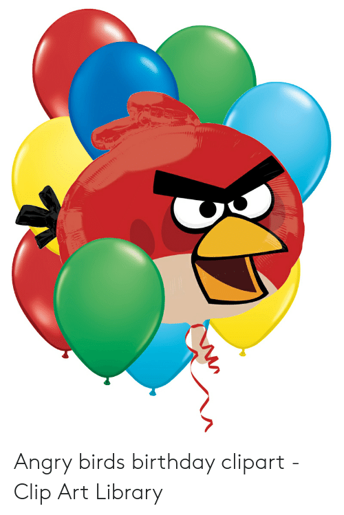 Angry Birds Birthday Clipart.