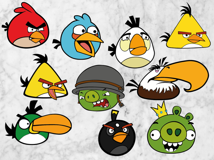 Angry birds svg files, Angry birds clipart, Angry birds cut files, eps  vectors, dxf files for cricut, cutting machines.