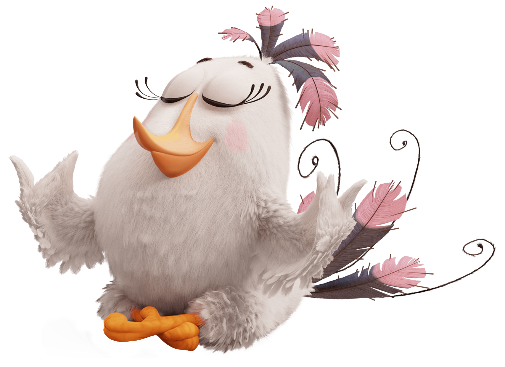 The Angry Birds Movie Matilda PNG Transparent Image.
