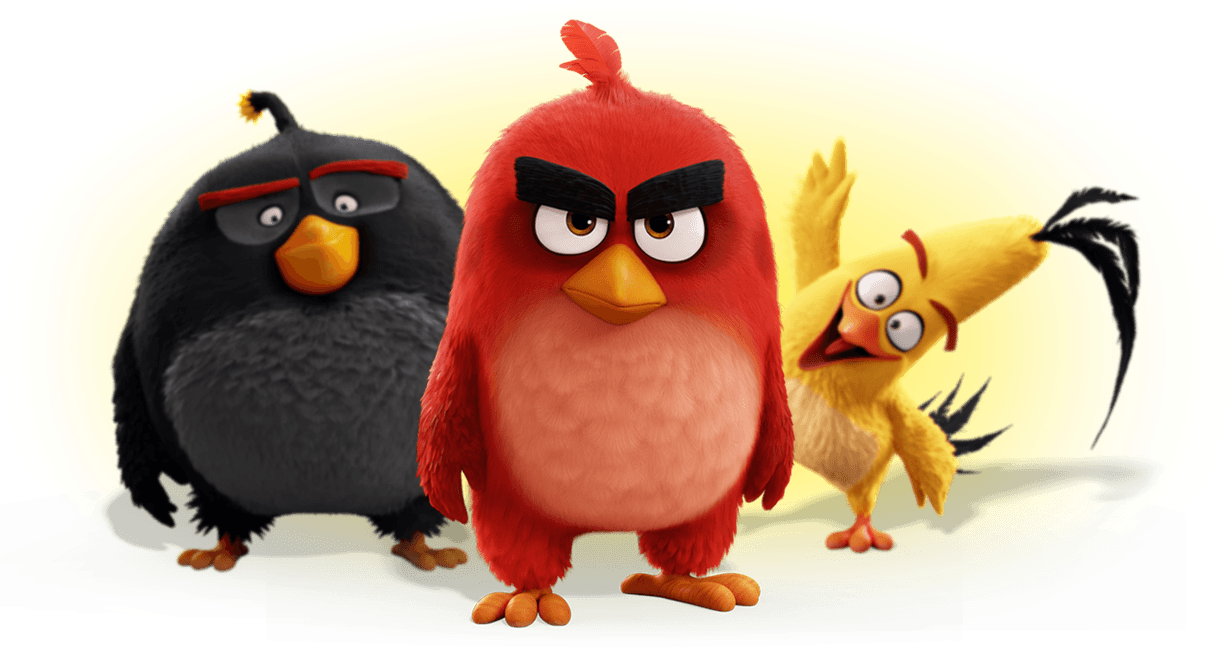 Angry Birds Movie Group Photo transparent PNG.